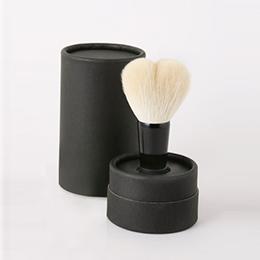 熊野筆 洗顔ブラシ 筒型黒ケース